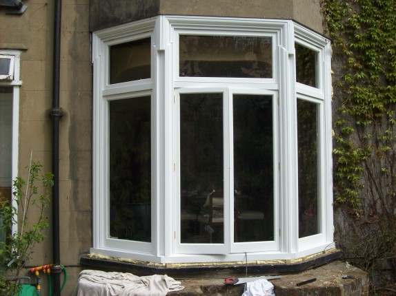 Bay window with inset traditional casements