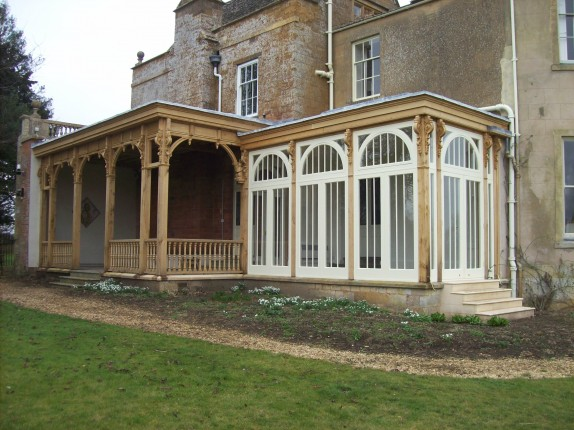 Garden room and Loggia rebuilt following fire