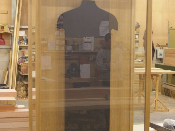 Display cabinet – prior to final fitting