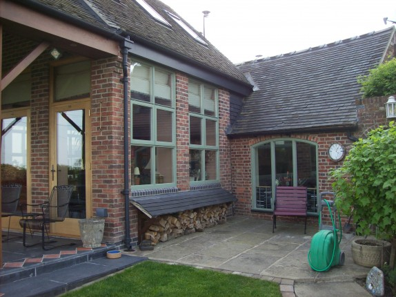 extension with new timber windows