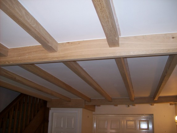 Feature beams to existing ceiling