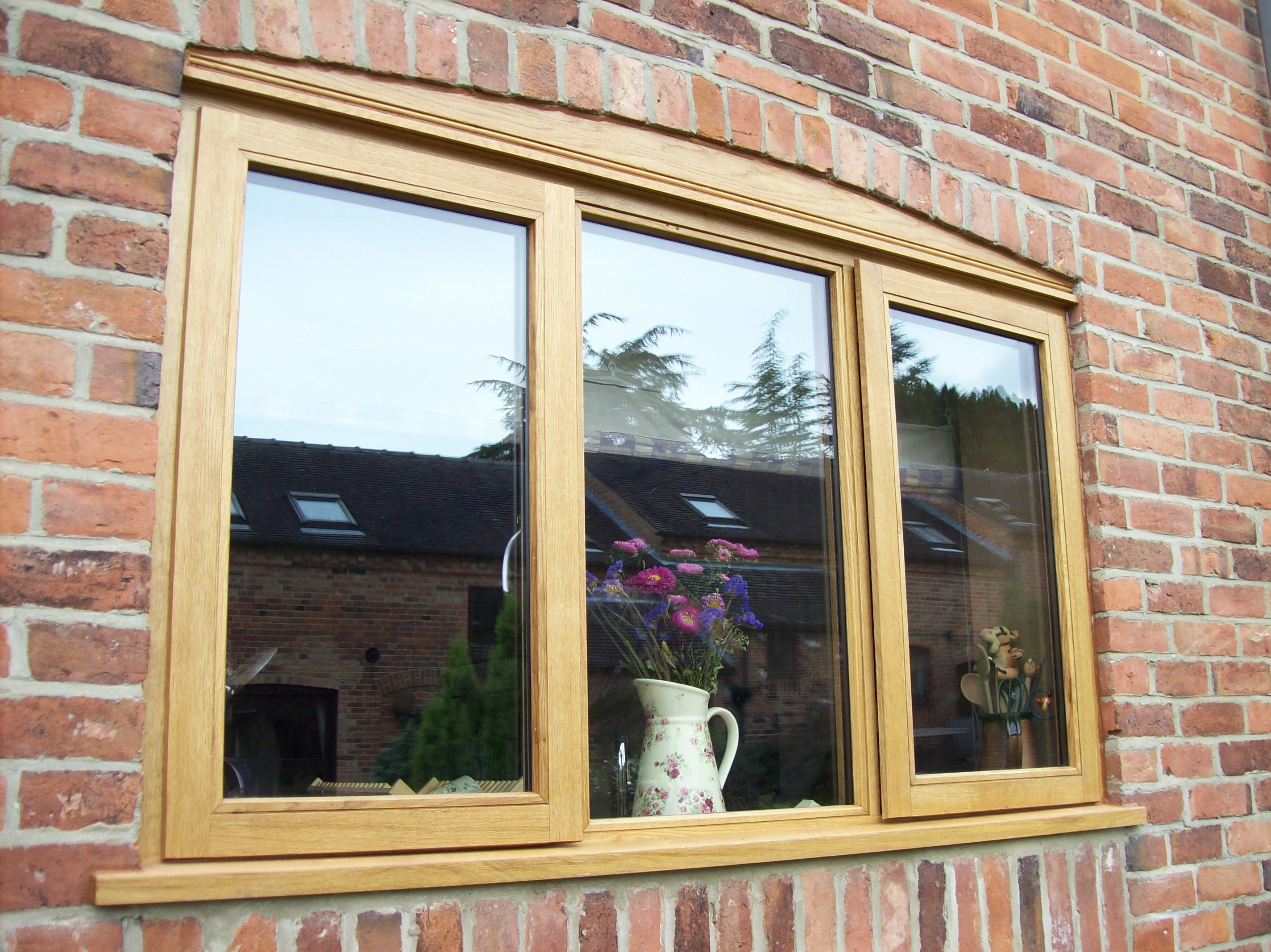 Oak Doors With Windows : Oak window bull construction